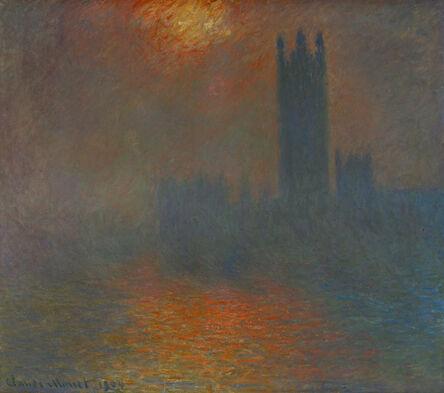 Claude Monet, 'Londres, le Parlement, trouée de soleil (London, Parliament, sun breaking through the clouds)', 1904