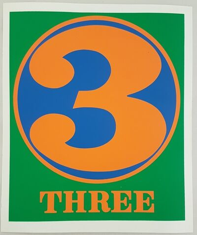 """Robert Indiana, 'Three (from the """"Numbers"""" suite)', 1968"""
