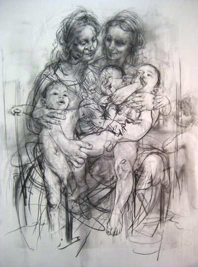 Jenny Saville, 'Reproduction drawing IV (after the Leonardo cartoon)', 2010