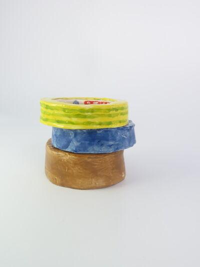 Rose Eken, 'Parceltape maskingtape stribed tape', 2015