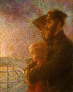Lucien Lévy-Dhurmer, 'The Russian Emigrants', ca. 1900