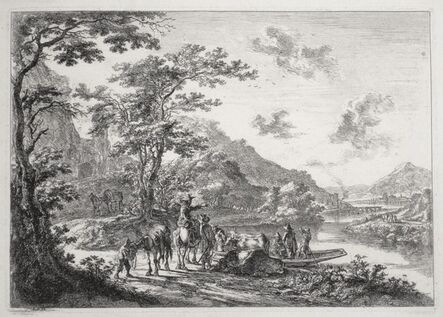 Jan Both, 'View of the Tiber with Country Landscape', ca. 1645