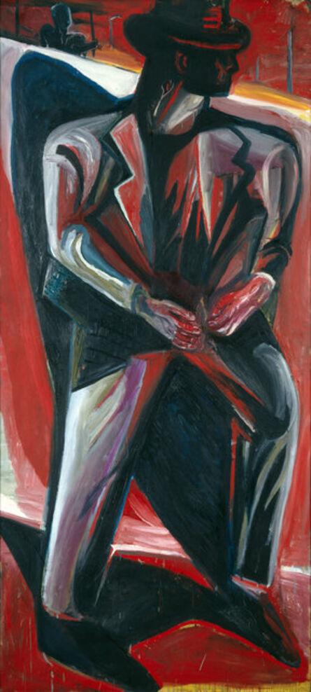 Klaus Killisch, 'Mann vor Mauer', 1988