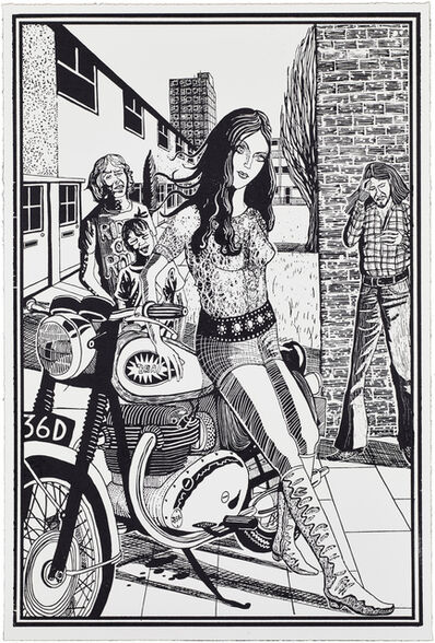 Grayson Perry, '02, Six Snapshots of Julie (Black and White)', 2015