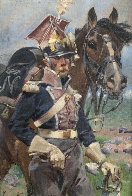 Jerzy Kossak, 'Polish Uhlan in Napoleon's Grande Armée', 1924