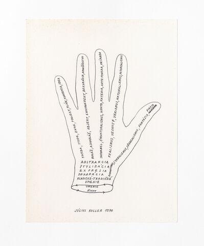 Július Koller, 'Untitled (Hand)', 1970
