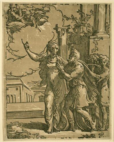Antonio da Trento after Parmigianino, 'Emperor Augustus and the Tibertine Subil', ca. 1530