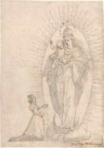 Georg Neher, 'Madonna and Child Appearing to a Supplicant', ca. 1600