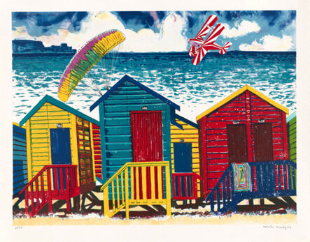 Malcolm Morley, 'Beach Scene with Parasailor', 1998