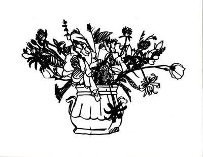 Tom Wesselmann, 'Wildflower Bouquet (Two handled vase) ', 1988
