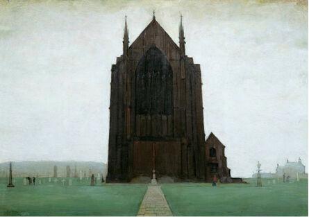 Laurence Stephen Lowry, 'St Augustine's Church, Pendlebury', 1924
