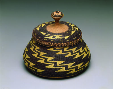 "Elizabeth Conrad Hickox, '""Fancy"" lidded basket', ca. 1917"