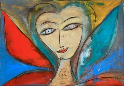 Jamali, 'Untitled - Woman with Red and Green Wings ', 2020