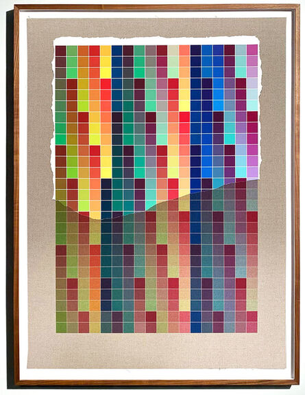 Analía Saban, 'Transcending Pigment from Paint to Canvas, from Canvas to Paint (Color) #3 No. VIII', 2020