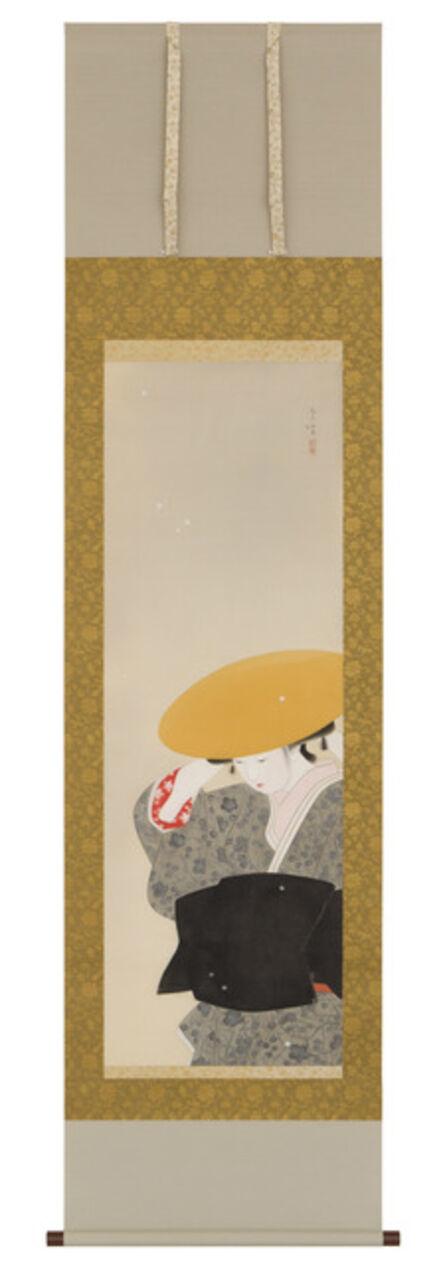 Yamakawa Shuho, 'Bijin by Snow (T-3794)', ca. 1912