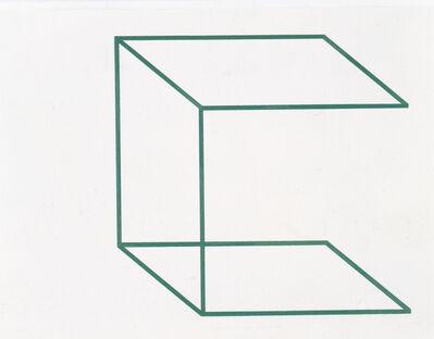 "Stephen Antonakos, '""Drawing/Neon for the U. of Mass."" (JA-17)', 1978"