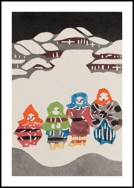 Keisuke Serizawa, 'Four Figures at Night', 20th Century