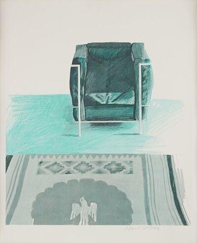 David Hockney, 'Corbusier Chair and Rug', 1969