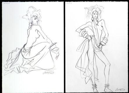 Antonio Lopez, 'Iman NYC for American Vogue', 1984