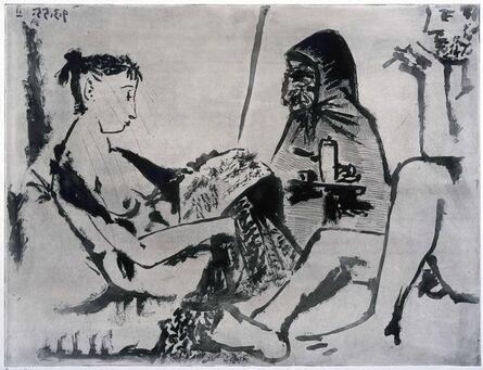 Pablo Picasso, 'Maison Close: le Chocolat. I', 1955
