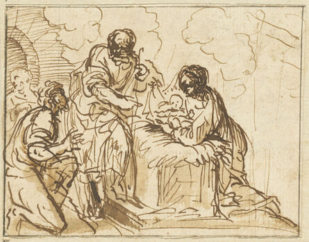 Agostino Masucci, 'The Adoration of the Christ Child with the Manger'