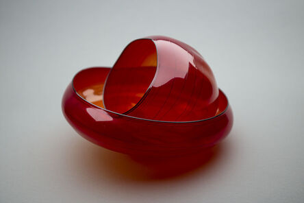 Dale Chihuly, 'Bonfire Basket Retired Hand Blown Glass Sculpture — Signed Dated', 2003
