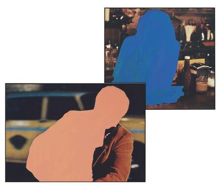 John Baldessari, 'Figure with burden, Figure at rest', 1990