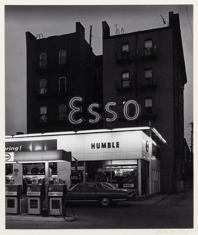George Tice, 'Esso Station & Apartment House', 1972