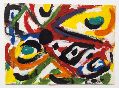 Kim MacConnel, 'Numero Tres (Flocked Abstract Sketch)', 1988
