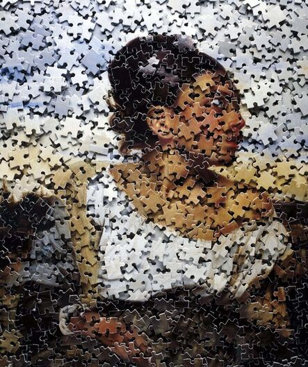 Vik Muniz, 'Orphan Girl at the Cemetery, after Delacroix from Gordian Puzzles', 2008
