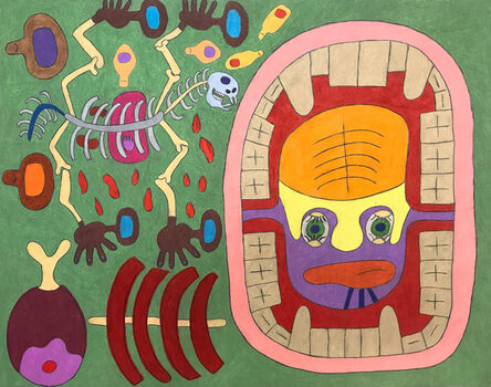 Raquel Albarran, 'A Big Open Mouth with Eyeball Tonsils and Skeleton Horse with Human Meatball Toes', 2018