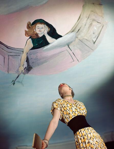 Horst P. Horst, 'Dress by Jo Copeland, Mural by Marcel Vertes', 1946
