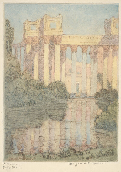 Benjamin Chambers Brown, 'Art Palace, Reflections (Panama Pacific International Exposition)', 1915