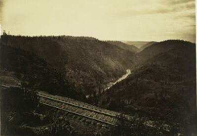 Carleton E. Watkins, 'The Ca¤on of the American River, C.P.R.R.', 1880