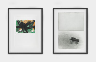 John Baldessari, 'Deer and Octopus and Boat (With Figure Standing), from the portfolio Hegel's Cellar', 1986