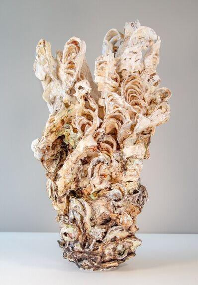 Susan Collett, 'Laurel Pair 1 - hand sculpted, cream, coral, dynamic, earthenware, ceramic', 2013