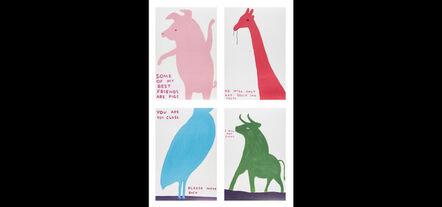 David Shrigley, 'Animals series (Set of 4)', 2020