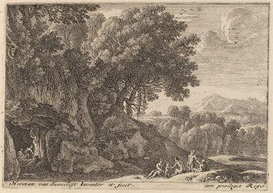 Herman van Swanevelt, 'Satyrs around a Fire'