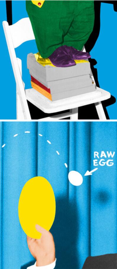 John Baldessari, 'Hand and/or Feet: Chair and Books/Plate and Egg', 2010