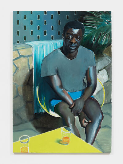 Jonathan Wateridge, 'Man on Patio', 2018