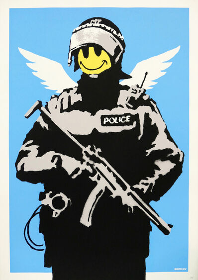 Banksy, 'Flying Copper (Unsigned)', 2003