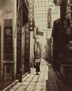 John Thomson, 'Physic Street, Canton', ca. 1869