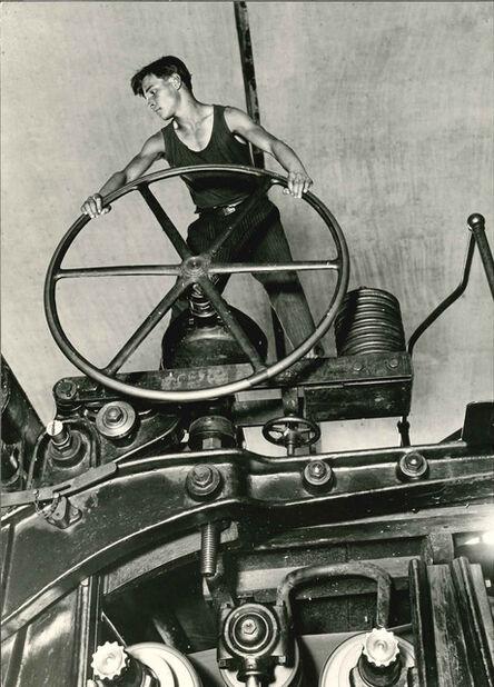 Arkady Shaikhet, 'Komsomolets at the Wheel, Balakhna, 1929', On verso 1931