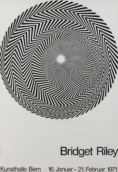 Bridget Riley, 'A poster for Blaze: Bridget Riley at Kunsthalle Bern', 1971