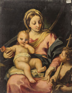 Carlo Maratti, 'Madonna with Child and Little John (Attributed)', Second half of the 17th century