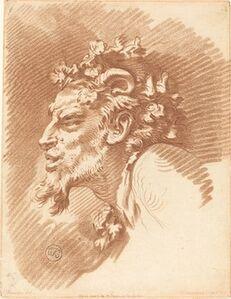 Gilles Demarteau, the Elder after François Boucher, 'Head of a Faun'