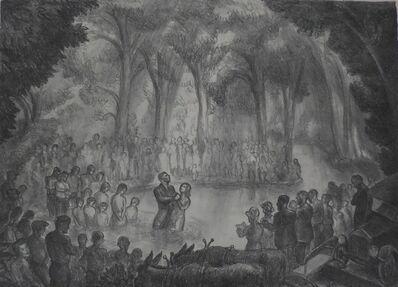 "John Steuart Curry, '""Baptism in Big Stranger Creek""', 1932"