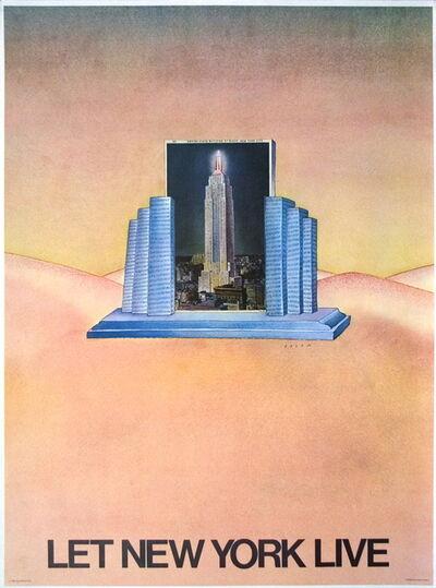 Jean Michel Folon, 'Let New York Live', 1980
