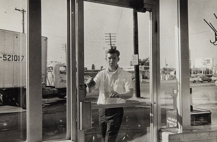 William Eggleston, 'Untitled (Young man entering diner)', 1968