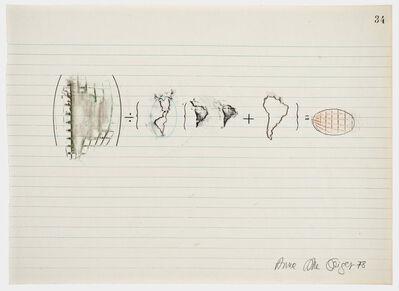 Anna Bella Geiger, 'Equations No 34', 1978